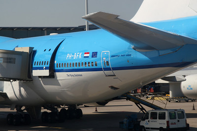KLM B747 named City of Karachi.