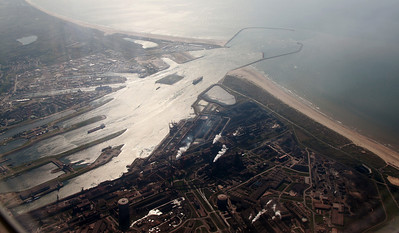 Shortly after take-off, a view of IJmondhaven.