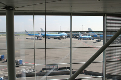 Amsterdam Schiphol airport.