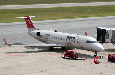 CRJ getting ready for the flight to Detroit.