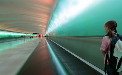 Detroit Airport tunnel.