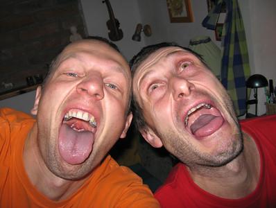 Bobby and Honza at Mackarna.