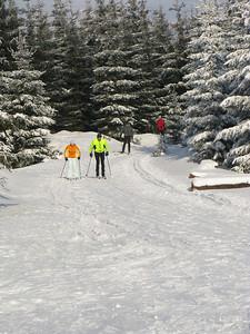 Skiing in Jizera Mountains (Jizerske hory).