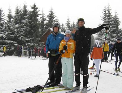 Refreshment hut at Hrebinek. Skiing in Jizera Mountains (Jizerske hory).