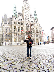 Abbey in front of the Liberec Town Hall.