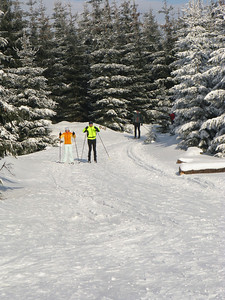 Skiing in Jizera Mountains (Jizerske hory).