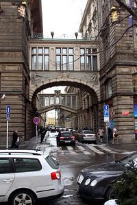 Street corner of Na prikope and Nekazanka, off of the Wenceslas Square.