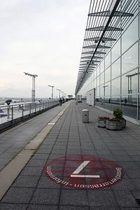Frankfurt airport visitors terrace.