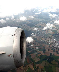 On the way to Prague shortly before landing.