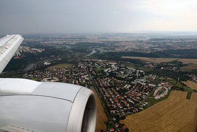 Prague shortly before landing.