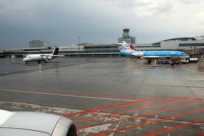 Prague airport.