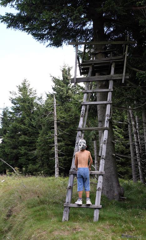 Hike to Smrk, the highest point of Jizera Mountains.