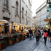 """Prague - this is a typical street scene in the """"Old Town"""", near my Hotel."""