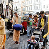 Prague - a Hare Krishna group in one of the areas close to my Hotel.