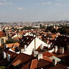 Prague - a view of the city and the many Spires.  This was taken from a trail that leads downhill from Prague Castle.