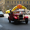 Prague - one of the vintage cars that can be hired for tours of the city.  Cars reportedly drove on the left prior to WW-II, but when they were occupied it was decreed that they drive on the right (as was done in Germany).
