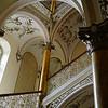 Stairway at hotel Slovan in Pilsen.