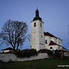 St.Jakub's church near Nebilovy.  Cosmic at dusk.