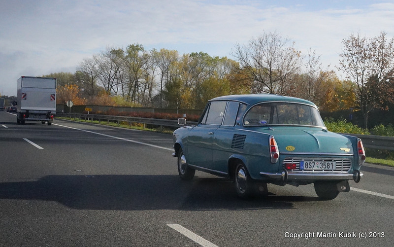MB - car top of the line when I was a teenager.  Circa 1967 it sported rear mounted engine.  Few remain today.