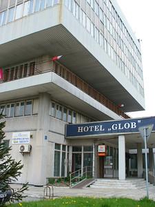 Hotel Glob, near Auschwitz, Poland.  No, we didn't stay there.