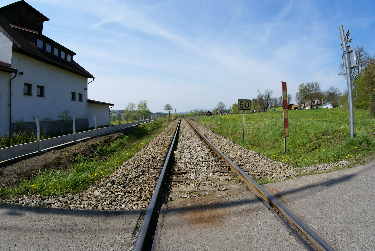 We saw few trains in this unpopulated part of the Czech Republic.
