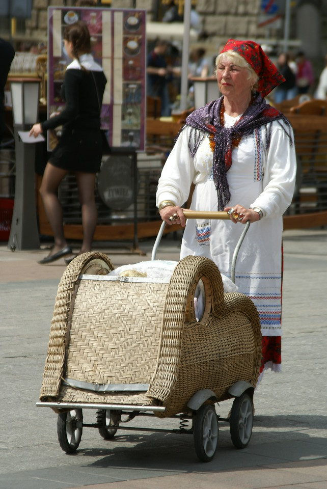 "Krakow Tourist Official: ""Send out old Polish lady with fancy basket for the tourists on my mark."""
