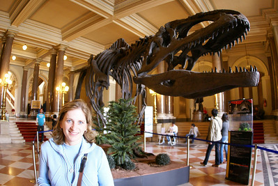 Inside the Natural History Museum.  The dinosaur stuff was cool.  But there were a lot of rocks we had to look at to keep the Attache happy.