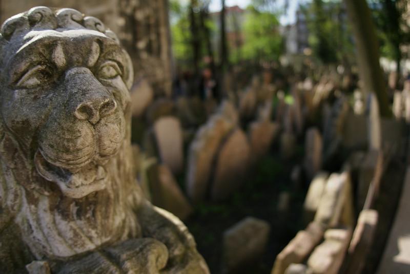 Old Jewish cemetery in Prague.