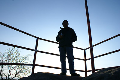 Templice Nat. Park.  Dad at top of old fort.