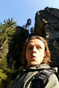Here I am in the Teplice Rocks National Park.