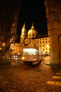 Prague night scene.