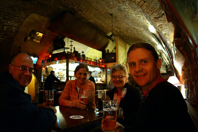 And we finished off our stay in Krakow in a dark cellar doing what we do best...BEERS!