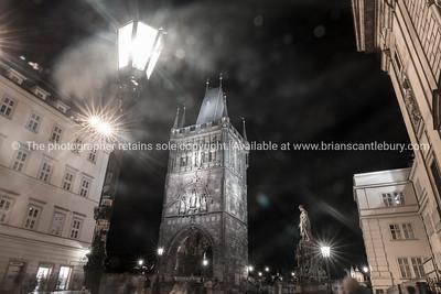 Powder Gate,in Old Town Square Prague, Czech Republic