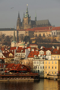 View from the Charles Bridge towards Hradčany
