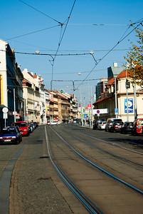Tram rails.
