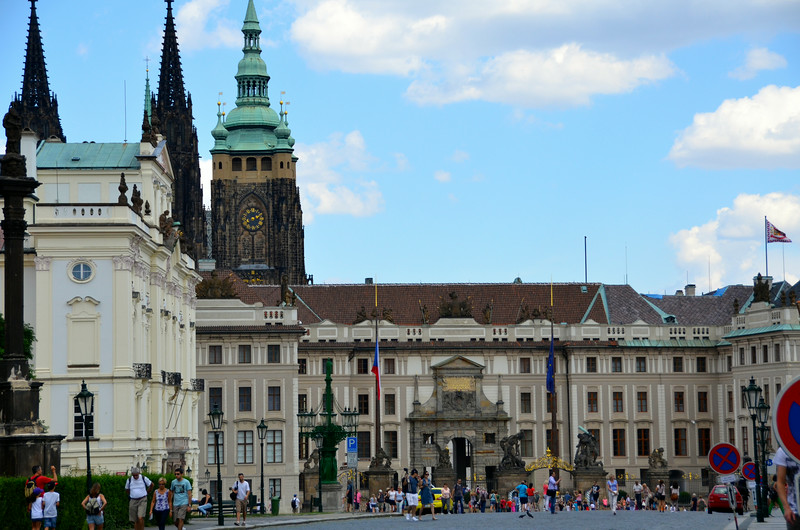 The entry into Prague Castle and St. Vitus