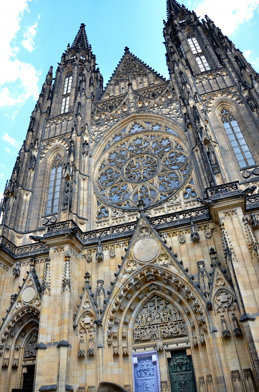 The entry to St. Vitus Cathedral