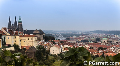 Overlooking Prague from Strohov Monestary on Castle Hill