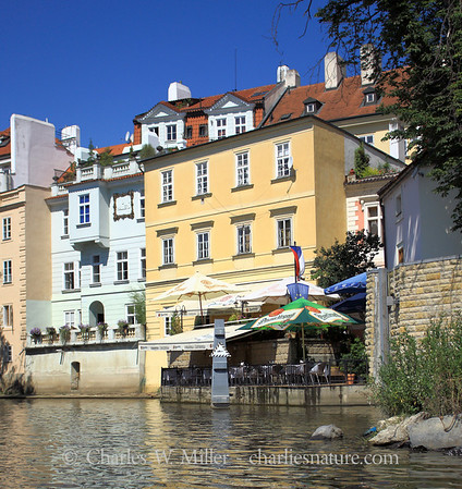 Cafe along the canal, Prague