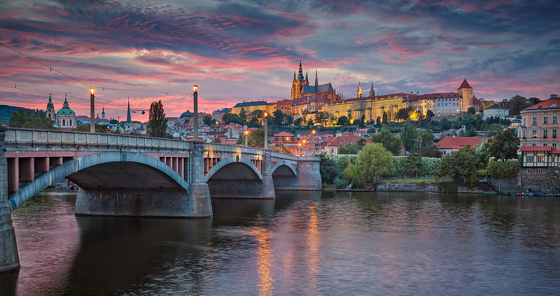 Prague at Sunset.