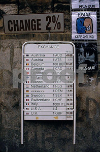 Prague money exchange