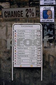Prague money exchange