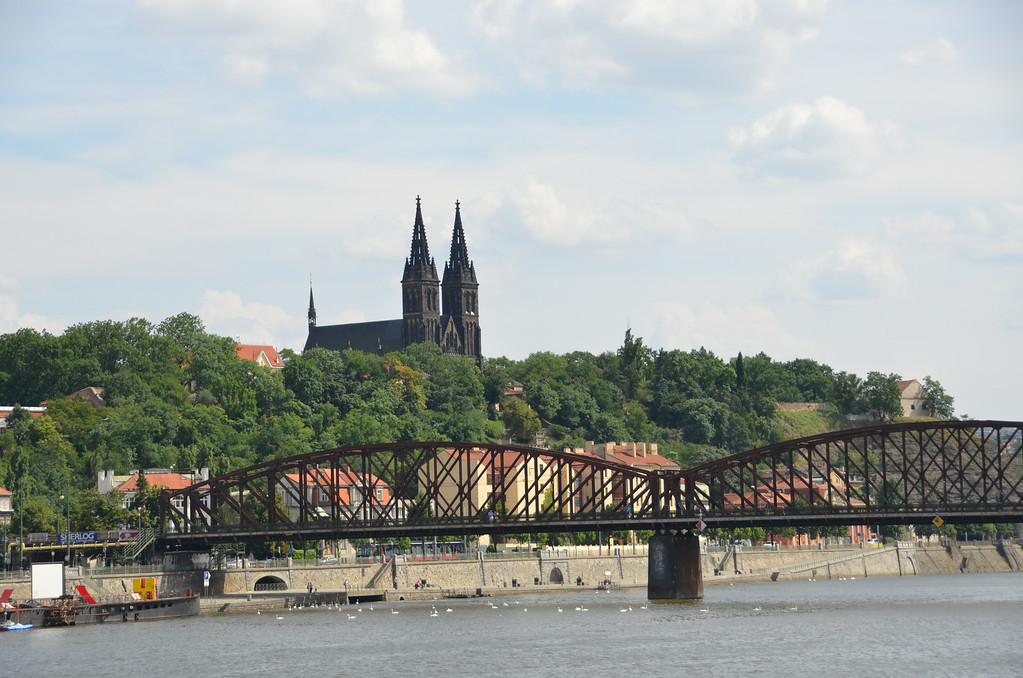 First day in Prague...the Vitave River facing toward Vysehrad Park