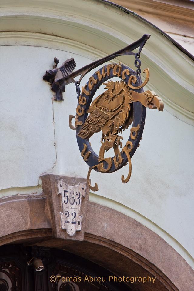 Restaurant Sign, Prague