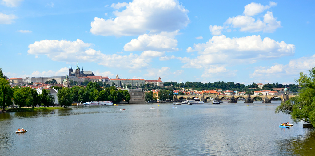 Looking the other direction toward Prague Castle and the Charles Bridge