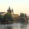 Sunrise along the Vitava River, Prague