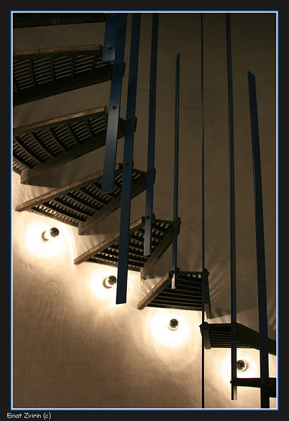 The Czech Republic<br /> Staircase at Besidka hotel, Slavonice