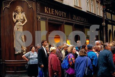 Prague tourist walk
