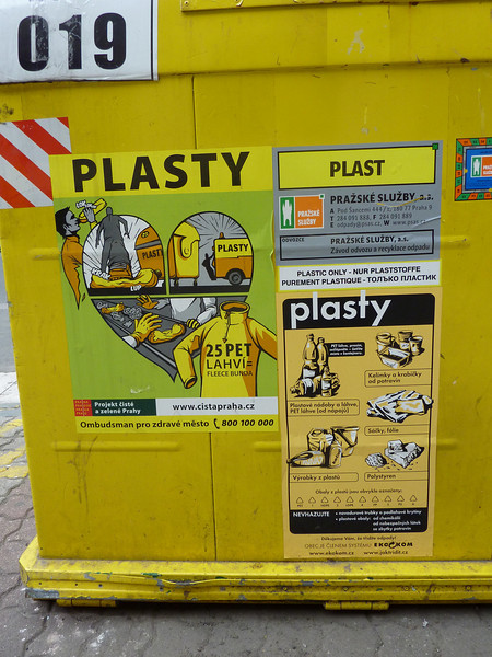 Plastic recycling is so cool in Prague!
