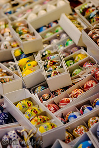 Colorful eggs.  Street vendor.  Praha, Czech Republic.
